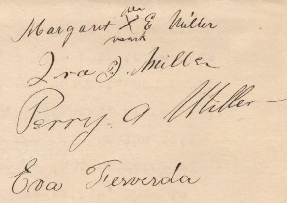 Margaret Lentz signature