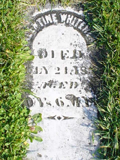 Margaret Lentz Valentine stone