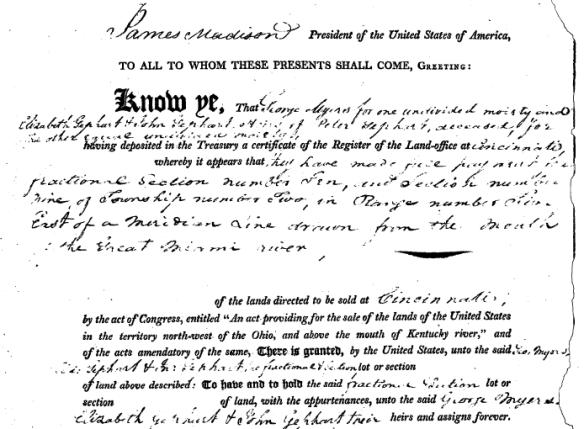 Catharina Schaeffer land patent