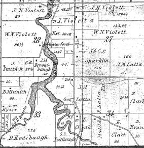 David Miller 1874 plat