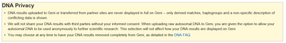 Geni privacy policy