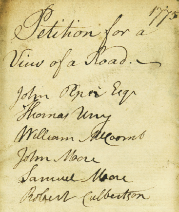 Daniel Miller 1775 Bedford petition 4