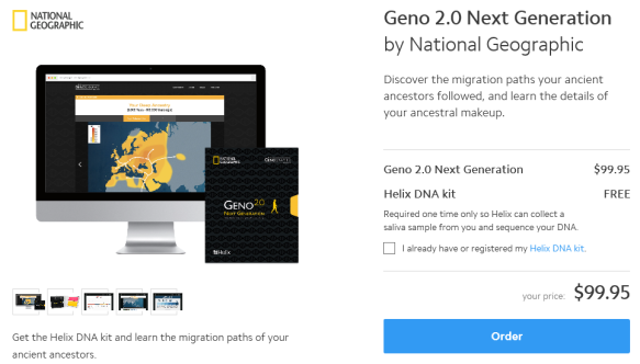 Genographic project dnaexplained genetic genealogy the genographic project kit which provides ethnicity plus y males only and mitochondrial dna haplogroups males and females regularly for 9995 solutioingenieria Choice Image